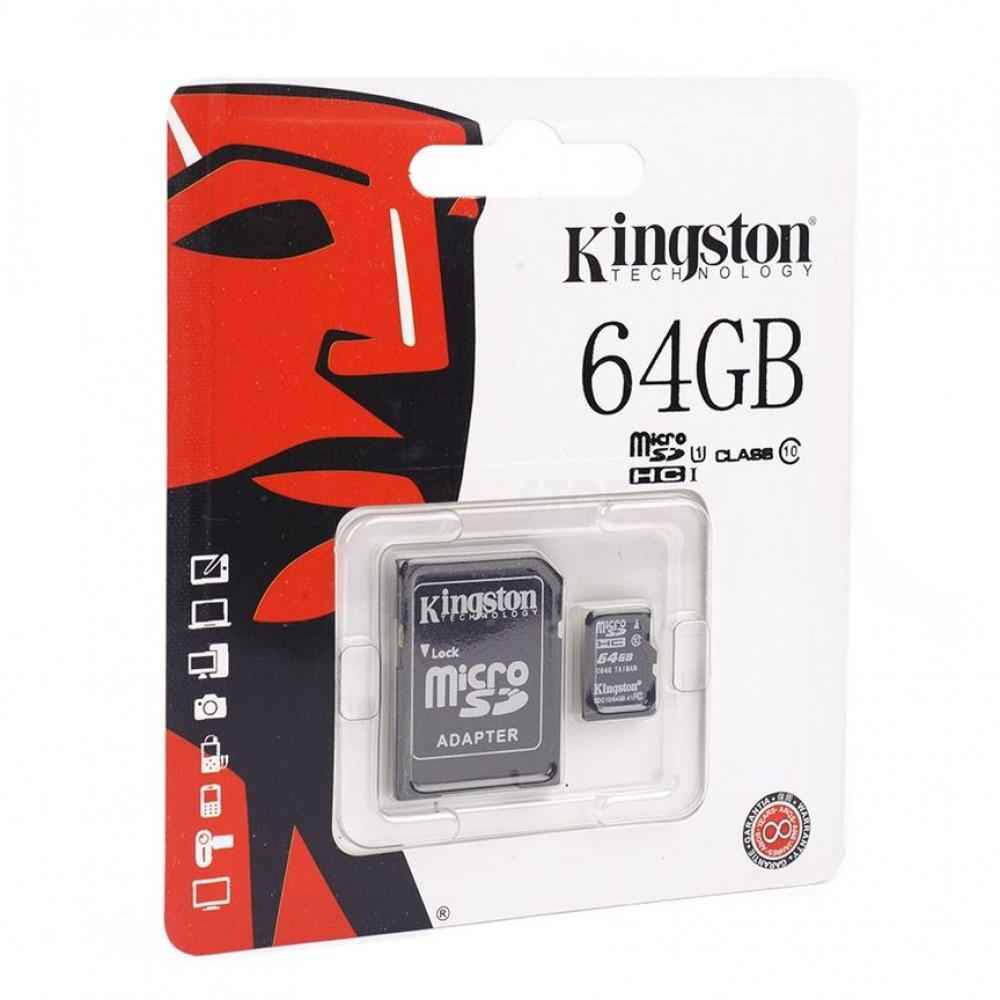 Карта памяти Kingston microSDHC/microSDXC Class 10 HS-I 64GB в Старом Осколе